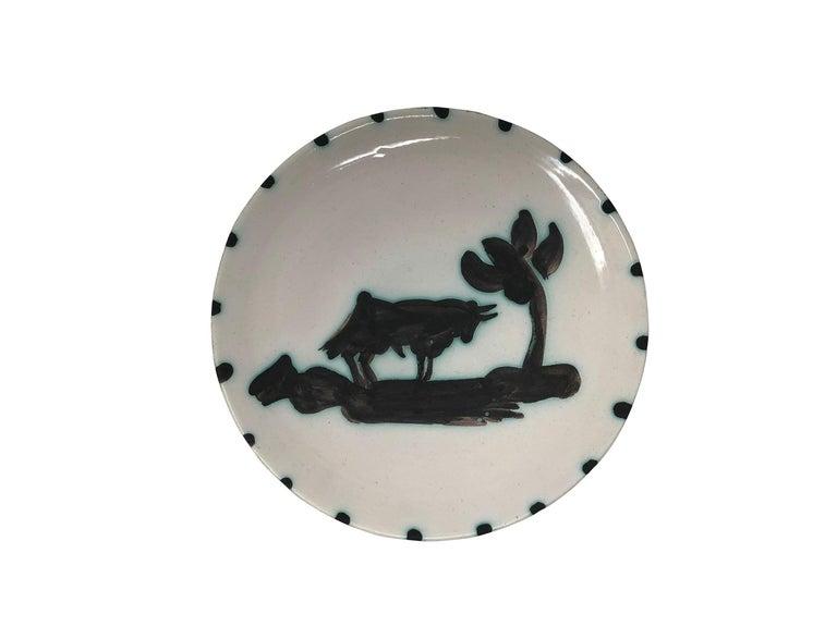 Picasso Madoura Ceramic Plate Taureau sous l'arbre, Ramié 159