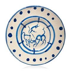 Picasso Madoura Ceramic Plate La pique, Ramié 103