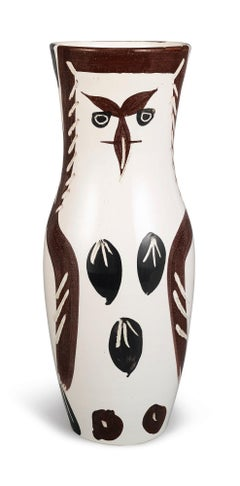 Picasso Madoura Ceramic Pitcher Chouetton, Ramié 135