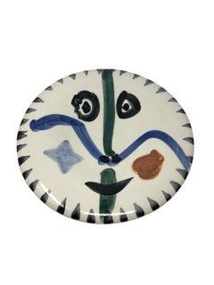 Pablo Picasso Madoura Ceramic Plate - Visage no. 111 , Ramié 476