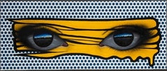 Homage to Roy Lictenstein (Yellow on Blue)