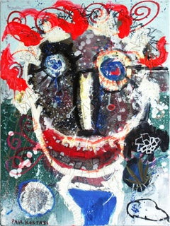 """Weeds"" Colorful Abstract Expressionistic Mixed Media Painting on Canvas"