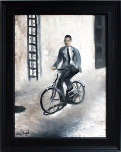 """Riding on Set"" Impressionistic Scene Oil Painting on Canvas"