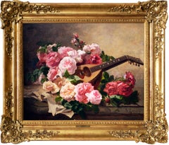 Still life with Roses and Mandolin