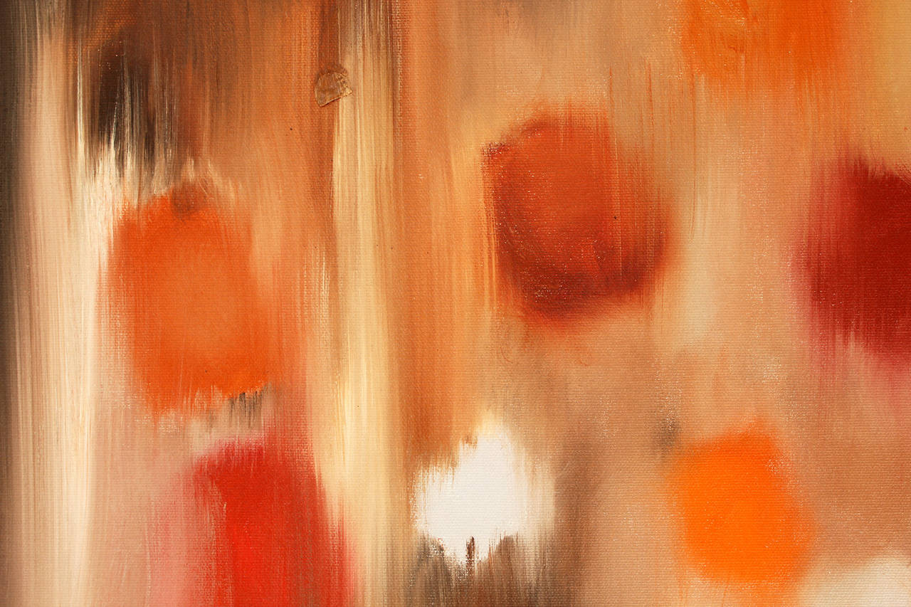 Safari - Orange Abstract Painting by Cindy Shaoul