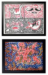 """Pair of artworks by Angel Ortiz """"Four Corners"""" & """"Signature Little Angel"""""""