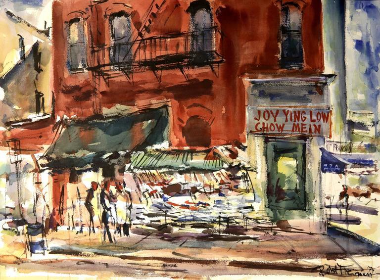 New York City Street Scene of China Town