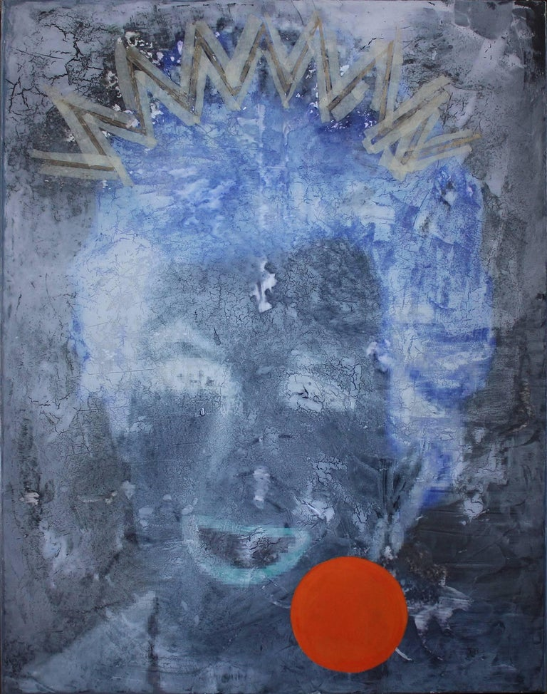 """Suki Maguire Abstract Painting - """"Nature and Human Relationships – Embrace 2 – 50F"""" Portrait of Princess Diana"""