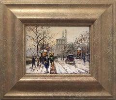 Parisian Winter Street Scene
