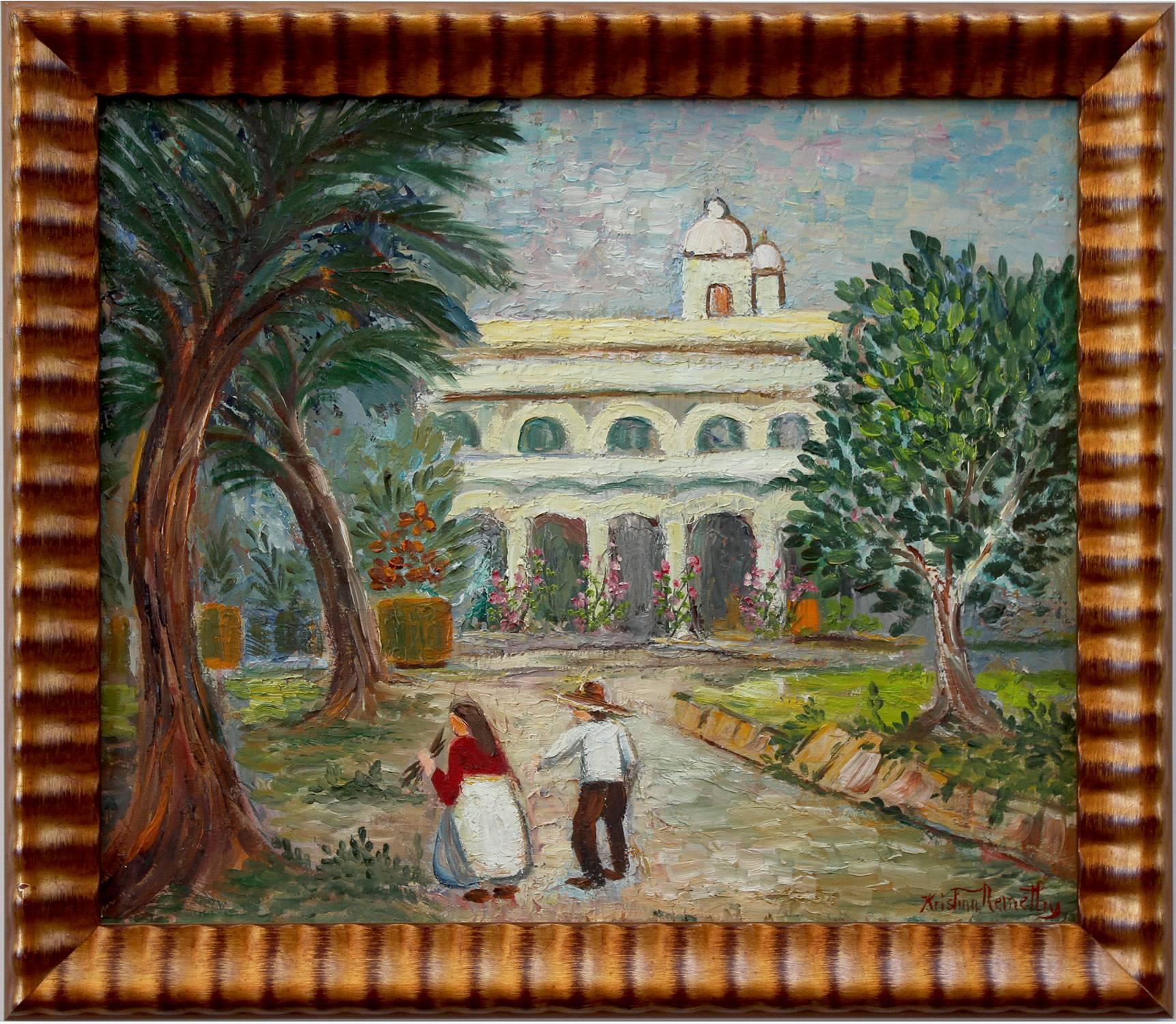 Mexican Village Scene