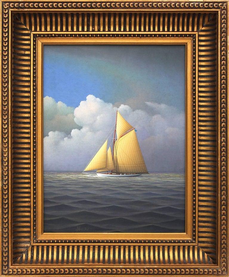 George Nemethy Landscape Painting - Sailing Across the Atlantic