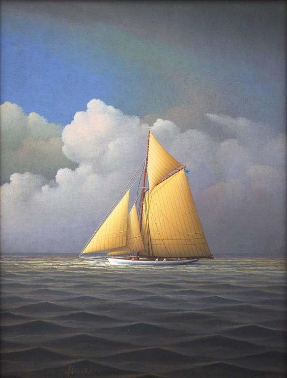 Sailing Across the Atlantic - Painting by George Nemethy