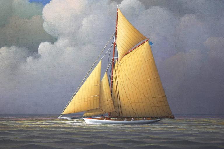 Sailing Across the Atlantic - Realist Painting by George Nemethy