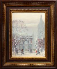 Washington Square Park Winter Scene