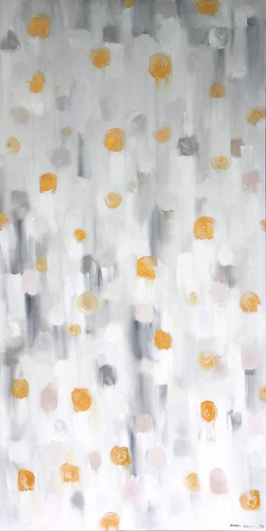 Cindy Shaoul Abstract Painting - Golden Sun Kisses 2