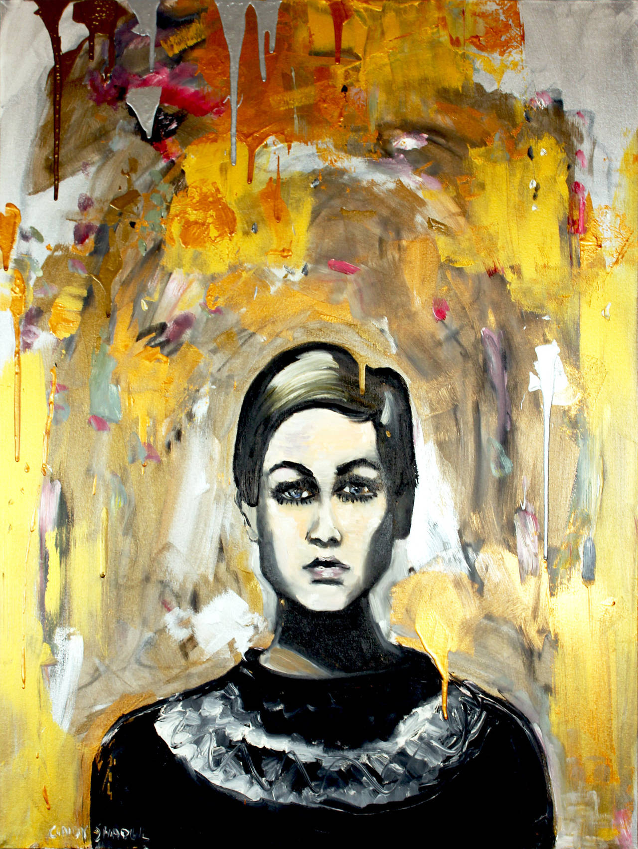 Cindy Shaoul Portrait Painting - Hello Twiggy