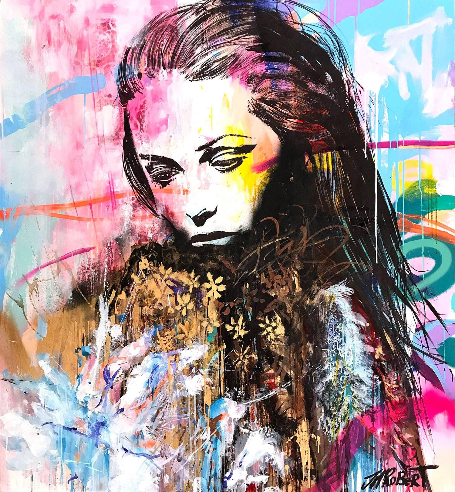 Colorful Abstract Woman Art