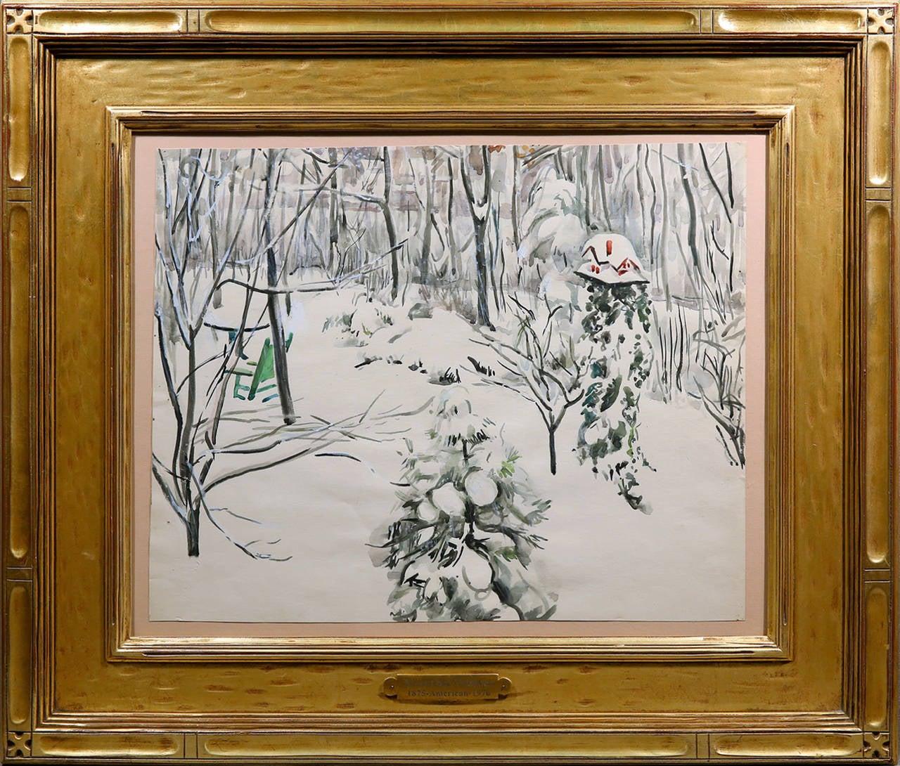 Martha Walter Landscape Art - Snow Scene