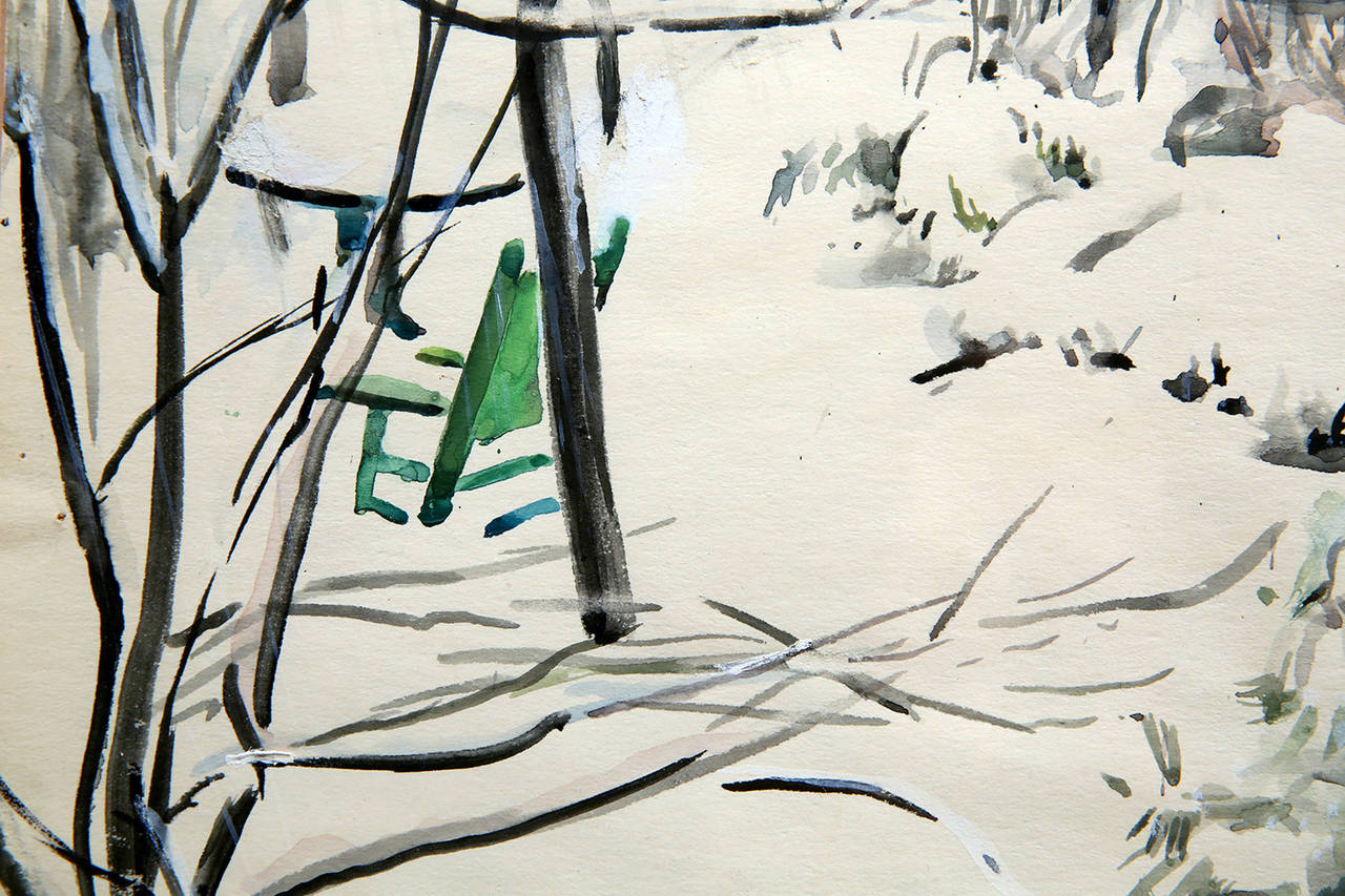 Snow Scene - American Impressionist Art by Martha Walter