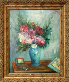 Still life of Flowers on Table