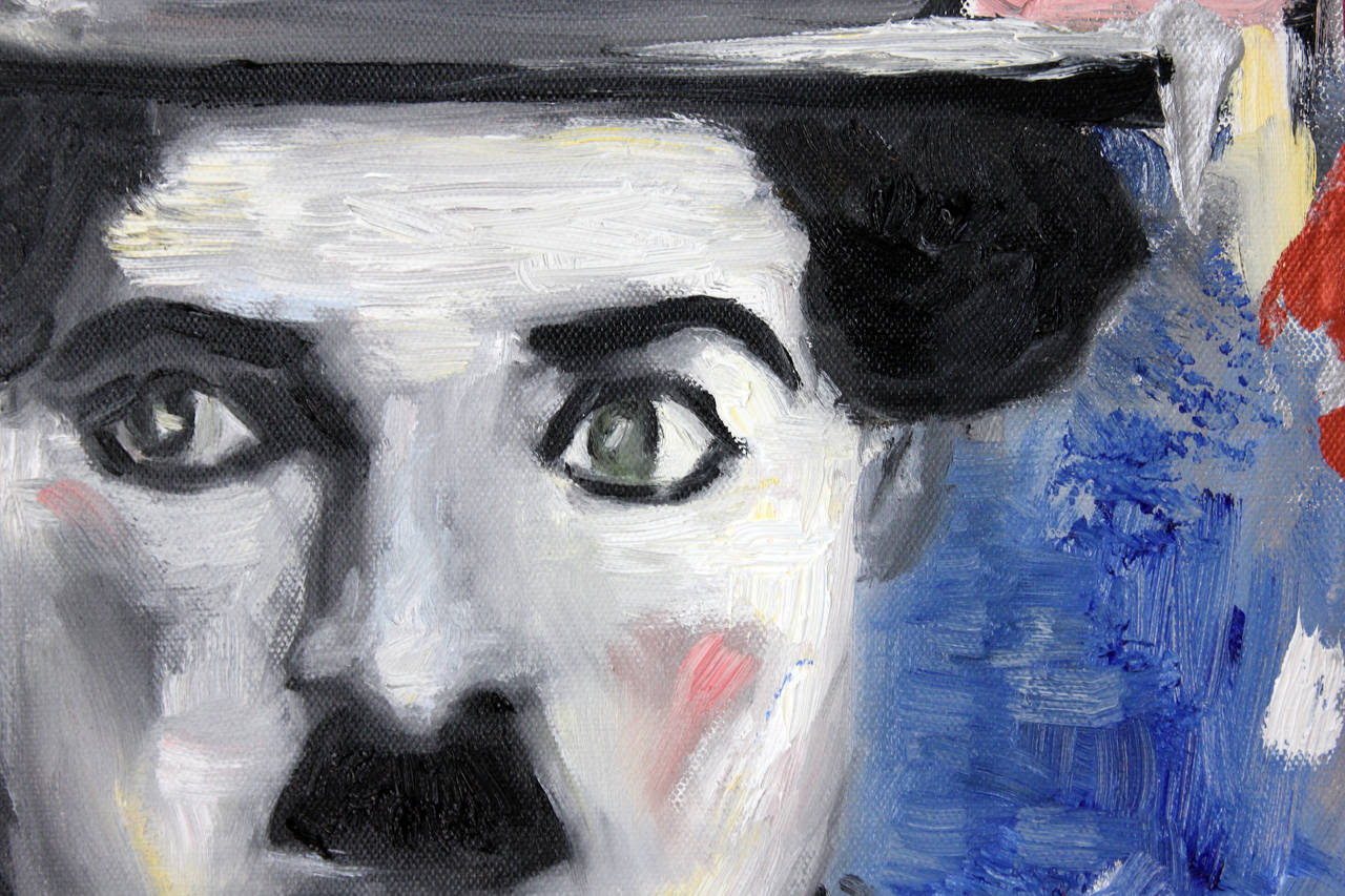 Hi Chaplin - Painting by Cindy Shaoul