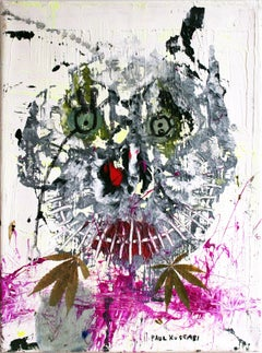 """Crunch N'Munch"" Abstract Expressionistic Mixed Media Painting on Canvas"