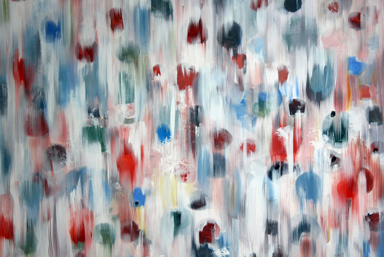 Summer Rain - Contemporary Painting by Cindy Shaoul
