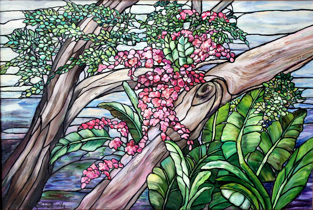 Tiffany Style Landscape