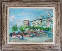 European City Scene by the Seashore