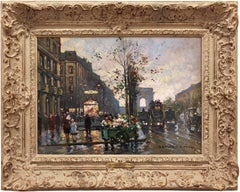 """""""Metro George V-Champs Elysees"""" Impressionist City Scape by a Cortès follower"""