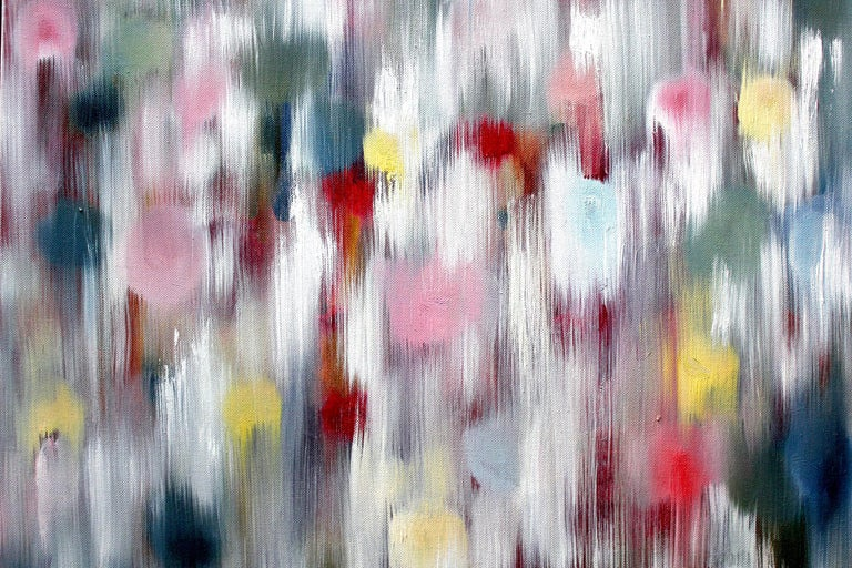 Dripping Dots, Ibiza - Contemporary Painting by Cindy Shaoul
