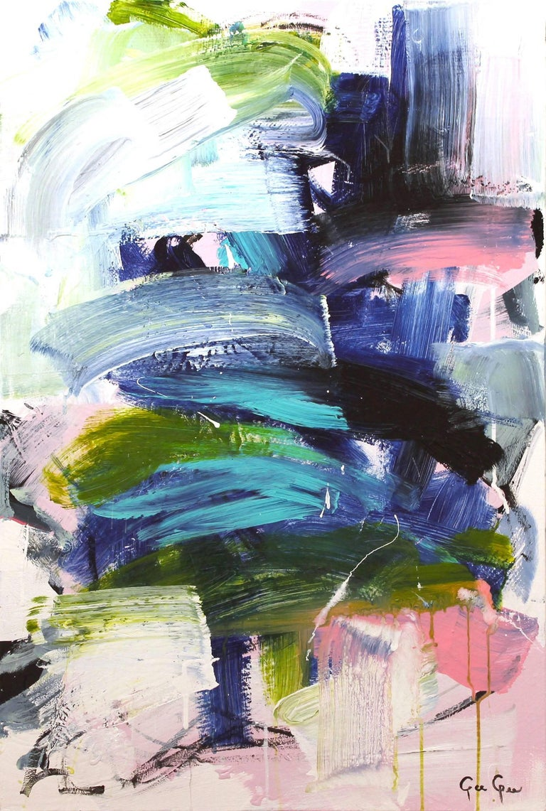 Gee Gee Collins Abstract Painting - Electrolyte