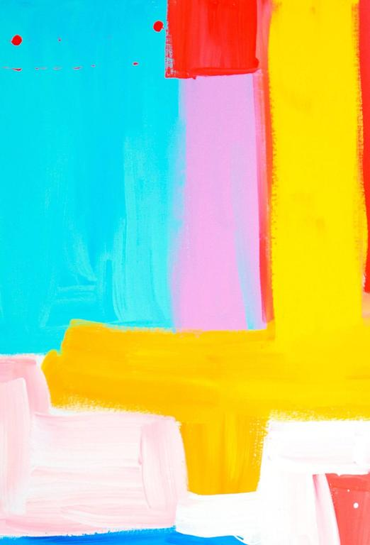 Turquoise and Pink Make Love - Pop Art Painting by Gillie and Marc Schattner