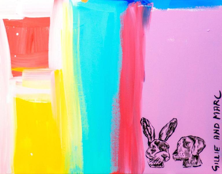 Turquoise and Pink Make Love For Sale 1