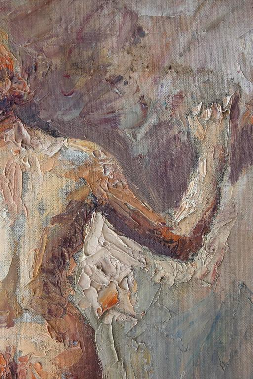 Figurative Nude Woman - Brown Figurative Painting by Coulton Waugh