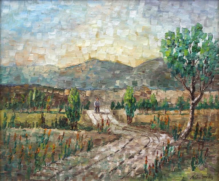 Walking Through the Fields - Painting by Kristina Nemethy