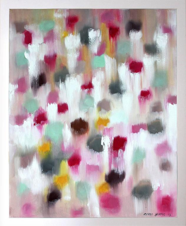 Cindy Shaoul Abstract Painting - Spring in Manhattan