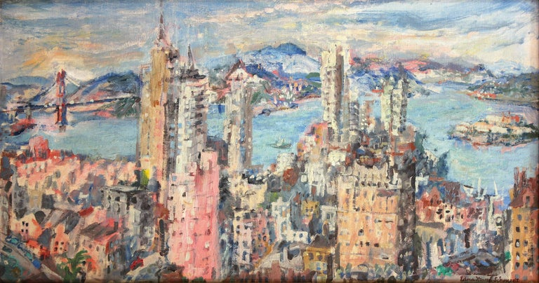 Edna Marie Schmidt San Francisco Bay Painting For Sale
