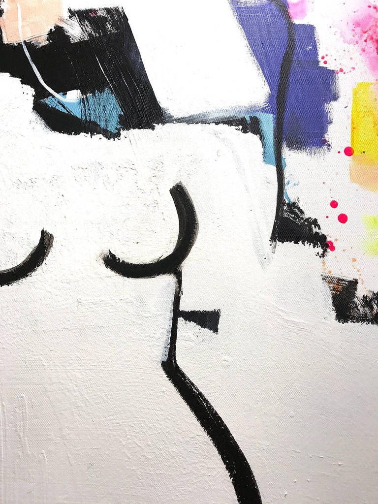 Figure Standing - Contemporary Painting by Gee Gee Collins