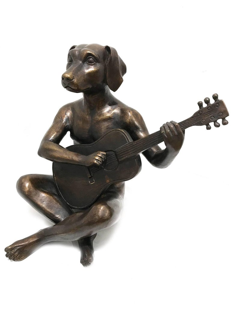 He Played Like He Was Keith Richards - Sculpture by Gillie and Marc Schattner