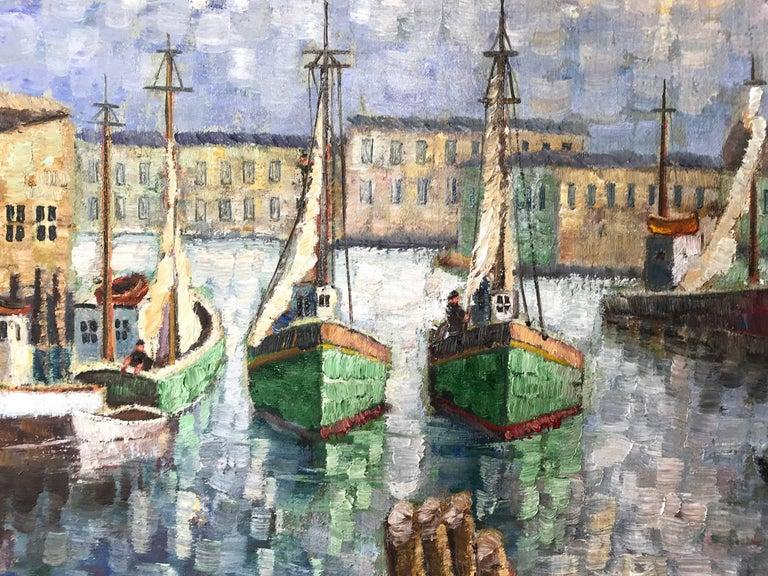 Cape Cod Harbor - Impressionist Painting by Kristina Nemethy