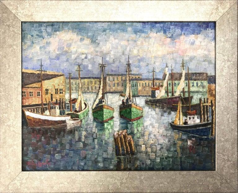 Kristina Nemethy Landscape Painting - Cape Cod Harbor