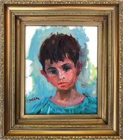 Portrait of a Young Boy in Blue