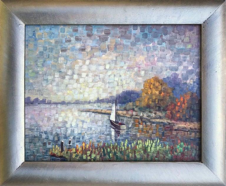 Kristina Nemethy Landscape Painting - Sailing Along