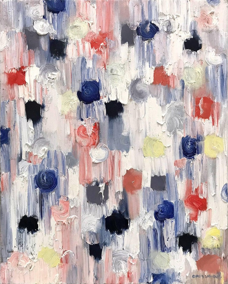Cindy Shaoul Abstract Painting - Dripping Dots, The Ballerinas