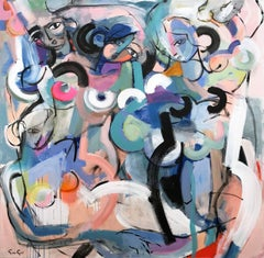 """""""Woman of Saturnia"""" Modernist Abstract Nudes Painting on Canvas"""
