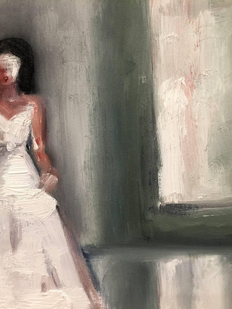 Stepping Out, Paris Runway - Contemporary Painting by Cindy Shaoul