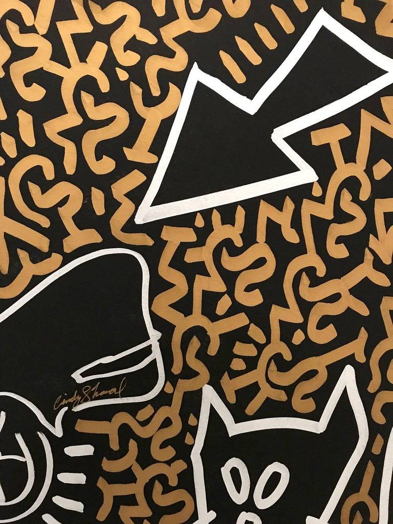 LA ROC in Lower East Side - Pop Art Painting by LA II (Angel Ortiz)