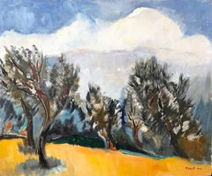"""Mexican Countryside Landscape Mountain Scene with Trees"" Expressionistic Style"