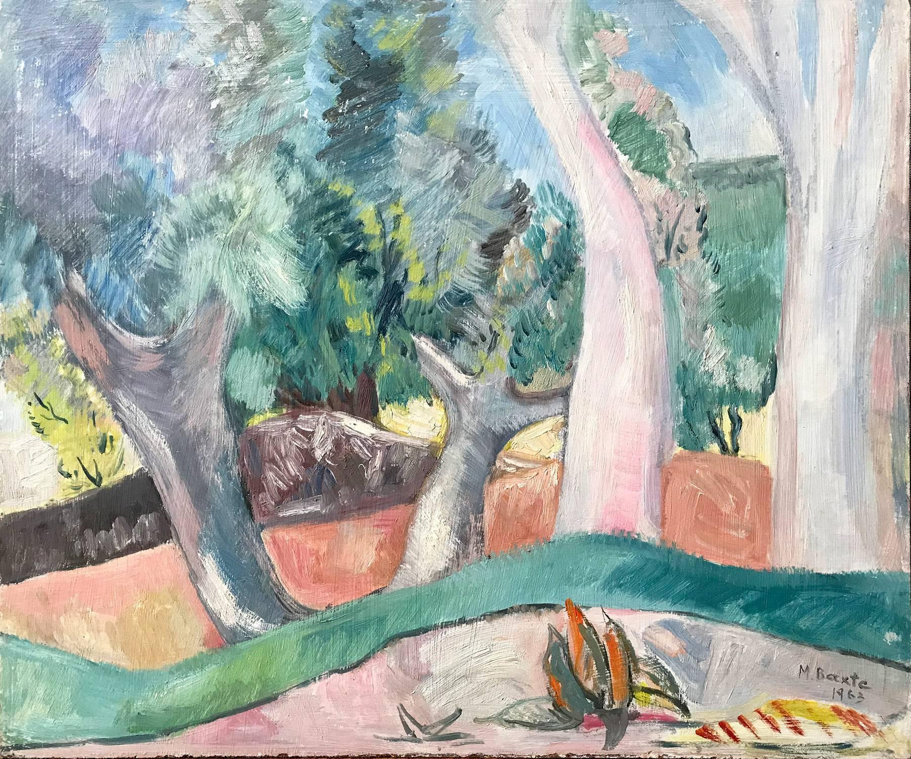 """""""Mexican Countryside Landscape Scene with Trees on Hills"""" Expressionistic Style"""